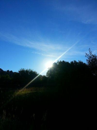 Sun Rise Blue Sky