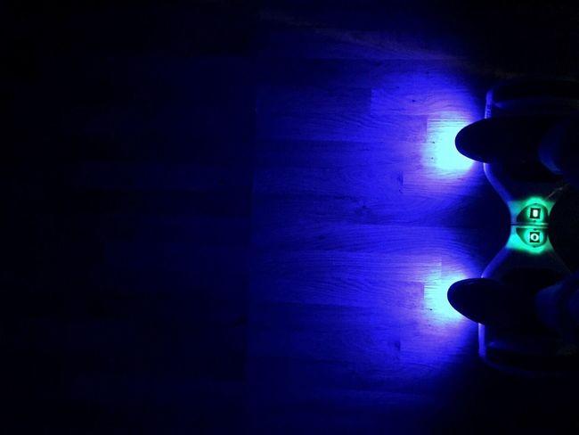 Segway Neon Lights Dark Blue Ride Taking Photos Hover Board Present Fun Good Times
