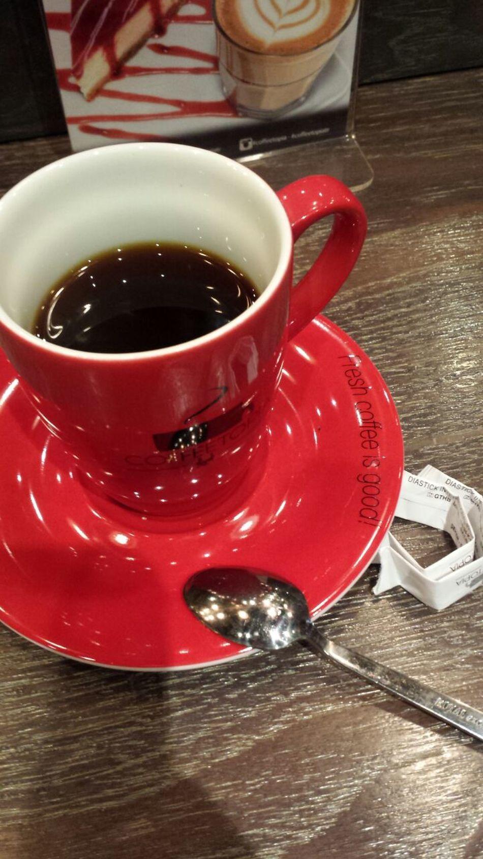Cafe Time Hello World Kırmızı Fincanım