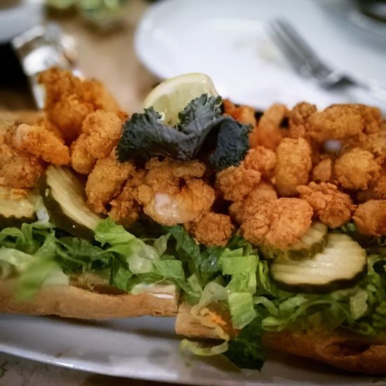 Needed this shrimp Poboy like nobodies business. NOLA Neworleans