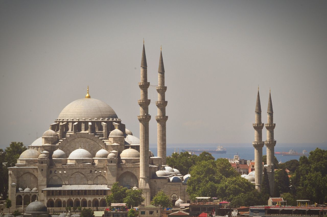 Sultan Ahmed Mosque Against Sky