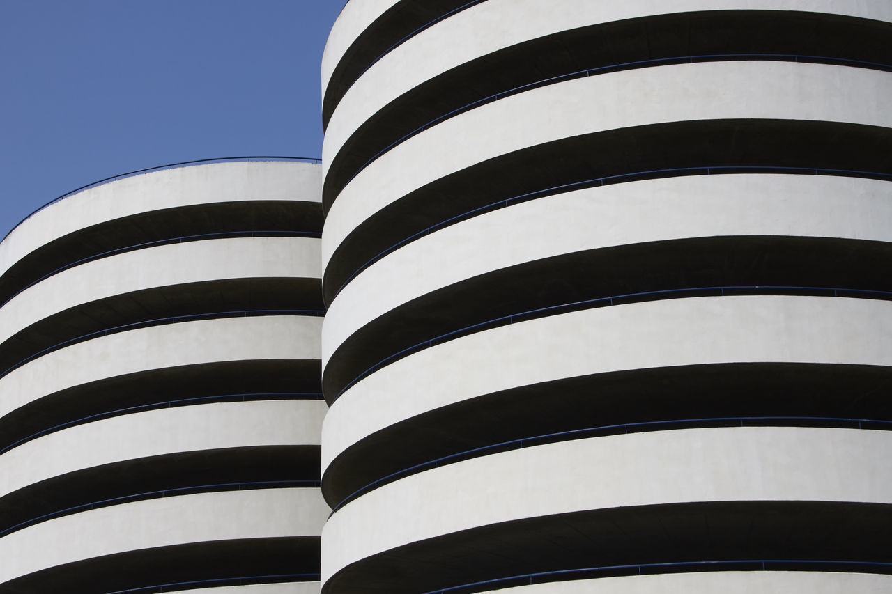 Black Black White Blue Blue Clear Sky Close-up Day EyeEmNewHere Low Angle View No People Outdoors Striped The Architect - 2017 EyeEm Awards White The Architect - 2017 EyeEm Awards