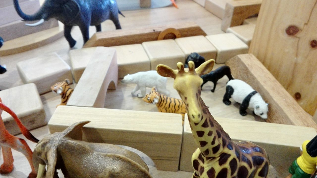 Animal Representation Animal Themes Elephant Figurine  Giraffe♥ High Angle View Indoors  Lyon Mammal PANDA ♡♡ Polar Bear Toys Zoo
