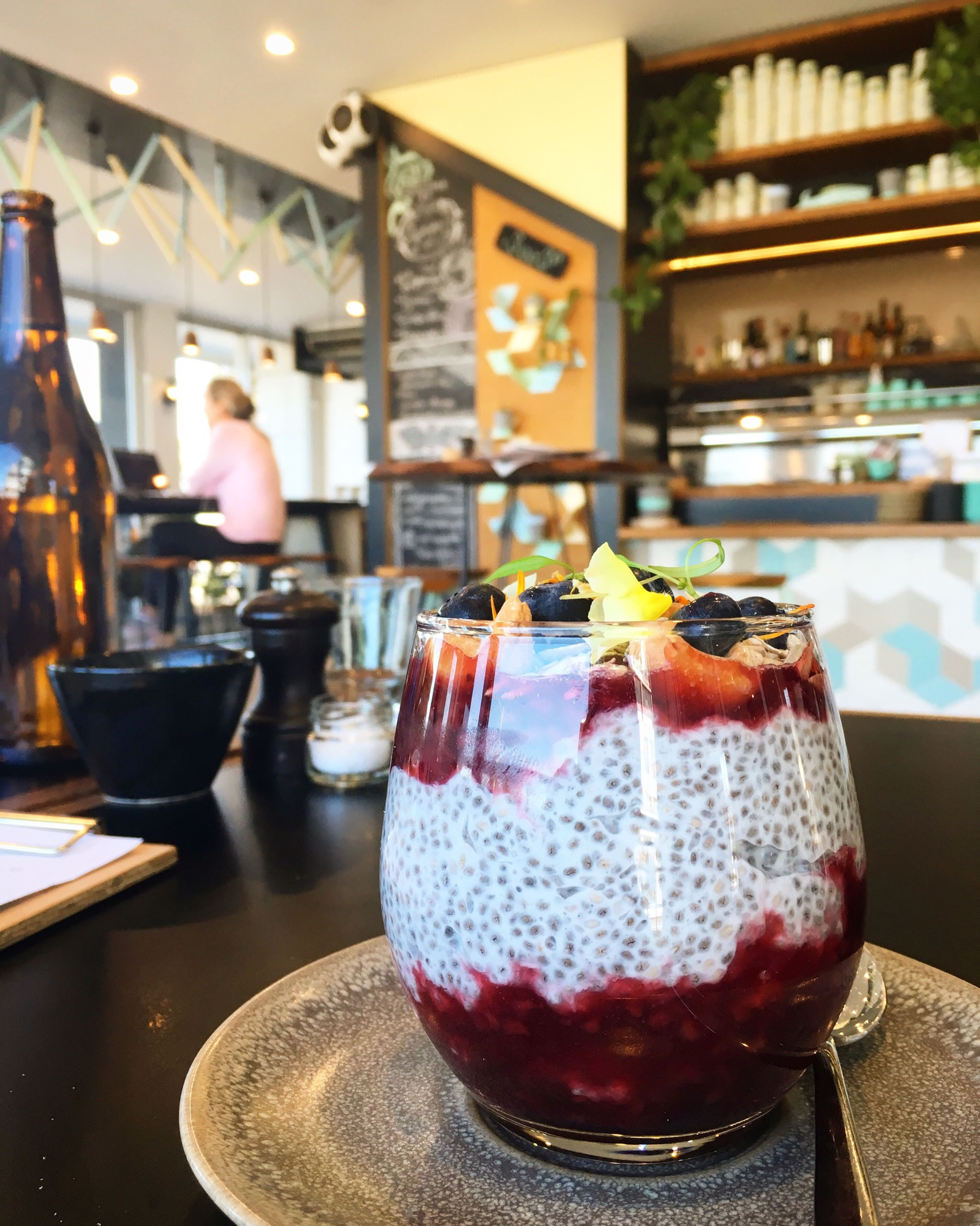 Coconut chai seed pudding Coconut Chaiseed Pudding Mixedberries Rolledoat Lemonblam Cashew Sunflowerseed Cafelafayette Todaysspecial Mondaynoon PortMelbourne Melbourne Australia