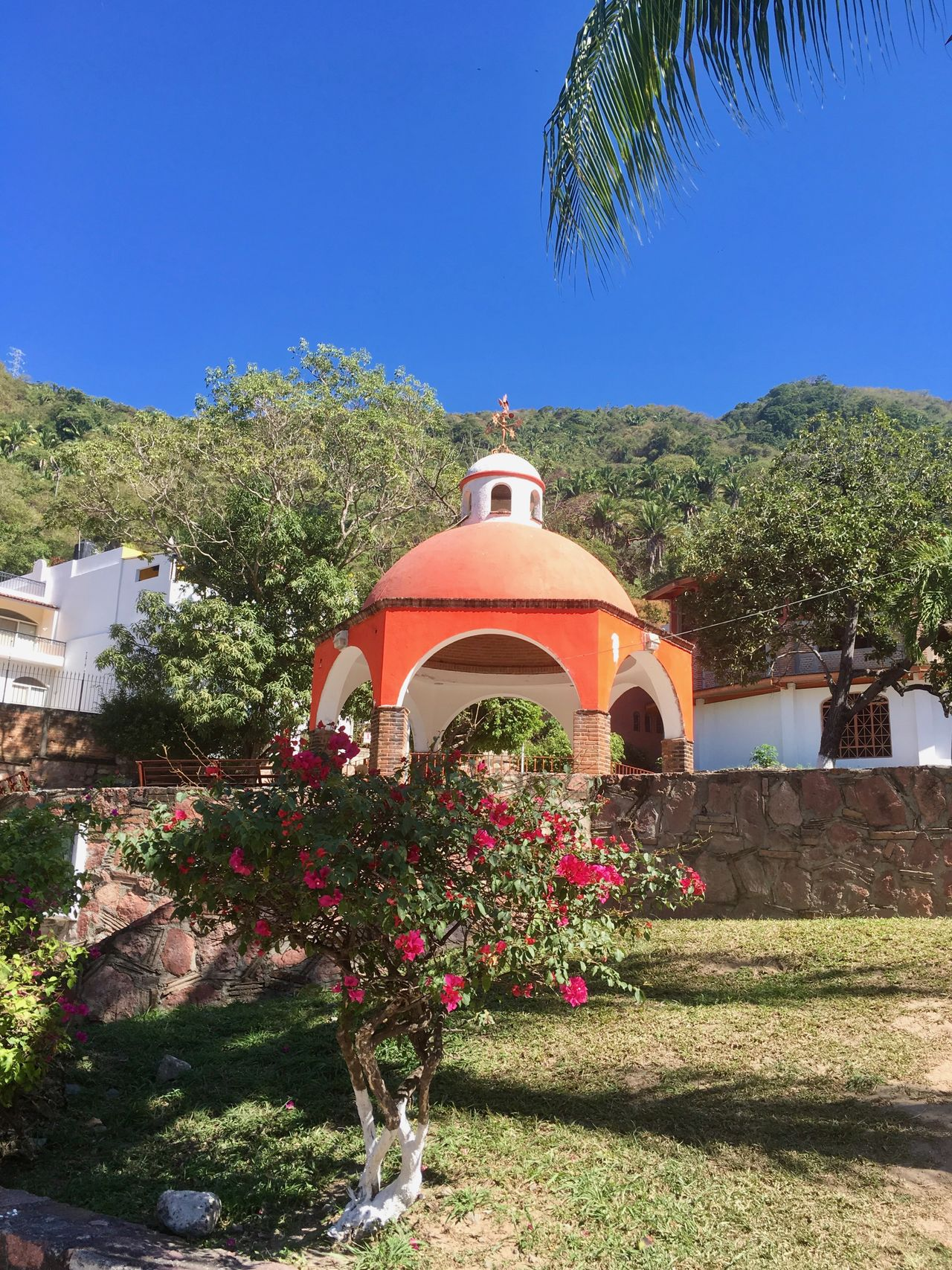 Mexican village centre. Day No People Village Life Village View Village Photography Villages Orange Color Blue Sky Mexico Mexican Mexican Culture