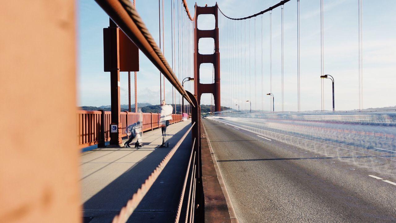 Bridge - Man Made Structure Outdoors Transportation Slow Shutter VSCO Motion Blurred Motion Golden Gate Bridge California Love SF