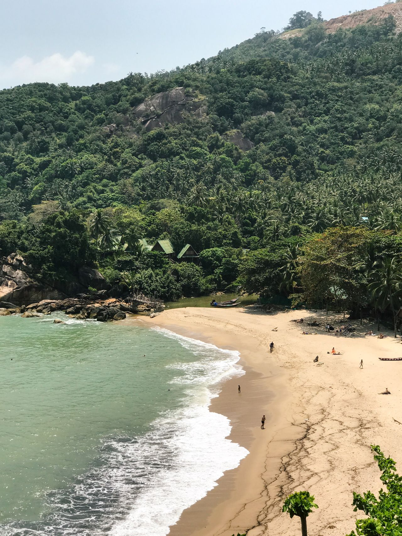 Beach Beauty In Nature Day Eco Tourism Growth Idyllic Scenery Ko Phangan Landscape Nature Outdoors Relaxing Sand Scenics Secluded Beach Sky Thailand Tourism Tranquil Scene Tranquility Travel Destinations Tree Tropical Climate Vacations View From Above Water