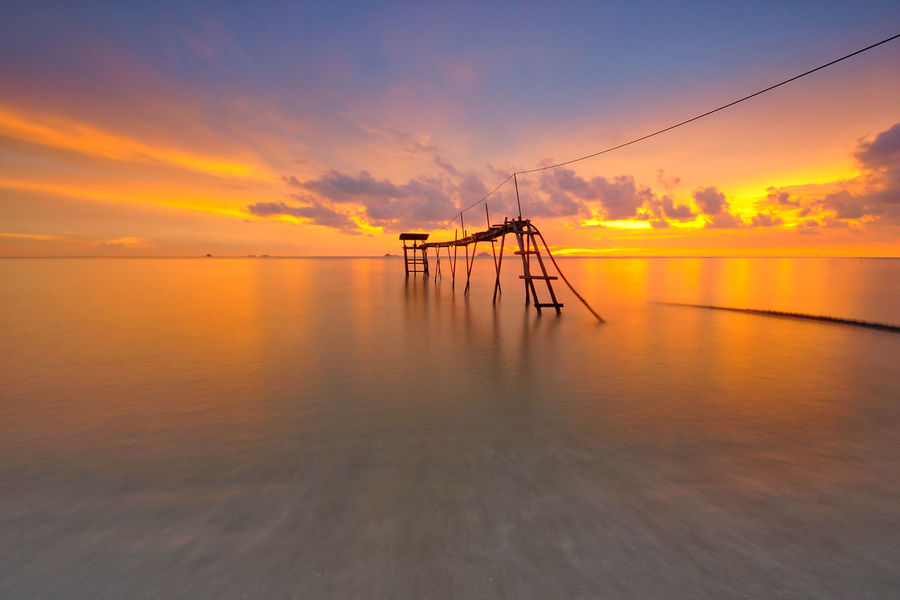 Beautiful long exposure shot of seascape during sunset. Beauty In Nature Cloud - Sky Clouds Ksy Clouds Sky Day Landscape Landscape_Collection Long Exposure Shot Nature No People Outdoors Scenics Sea Sky Splashing Summer Sunset Sunset_collection Tranquility Water