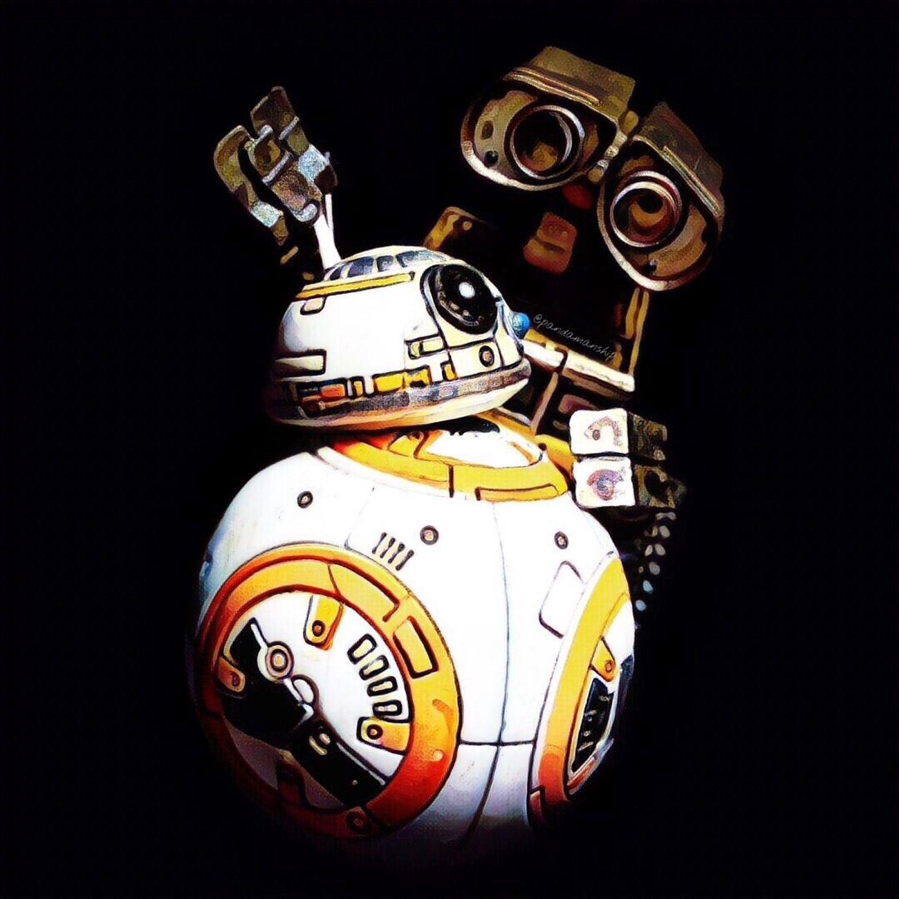 BB-8: - -- ----! ㅤㅤㅤㅤㅤㅤㅤㅤㅤㅤㅤWall-E: B...B...? Figurefie Toyark Toyartistry Pixar  Wall-e Starwars