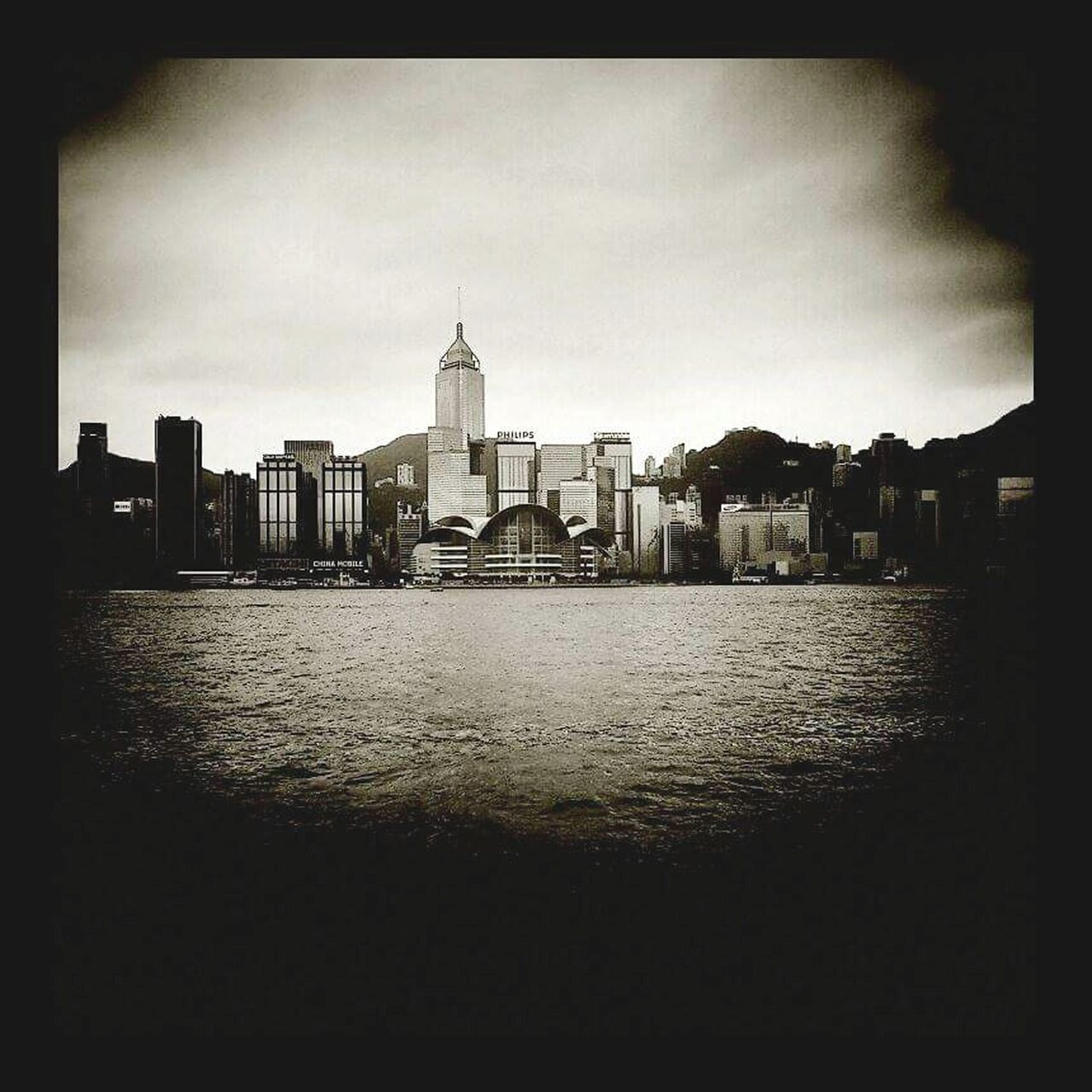 Blackandwhite Black And White Photography Buldings HongKong Hong Kong Victoria Harbour Ocean View Architecture Buildings & Sky Lomography Lomoeffect Holga Holga Photography