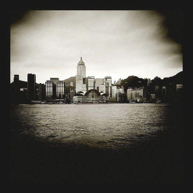 Blackandwhite Black And White Photography Buldings HongKong Hong Kong Victoria Harbour Ocean View Architecture Buildings & Sky Lomography Lomoeffect Holga Holga Photography