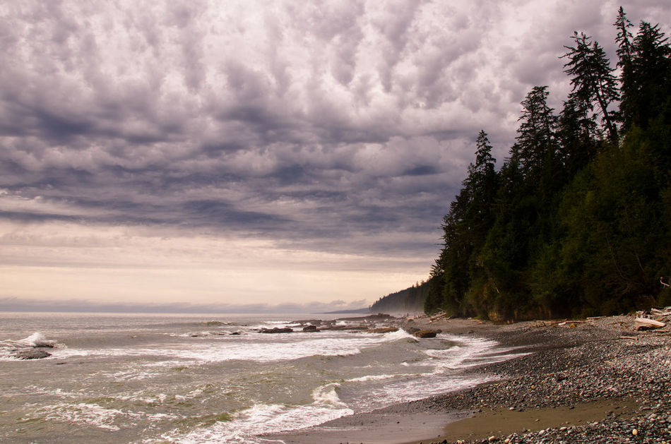 Beach Canada Cloud - Sky Day Juan De Fuca Landscape Nature No People Outdoors Sand Sea Vancouver Island