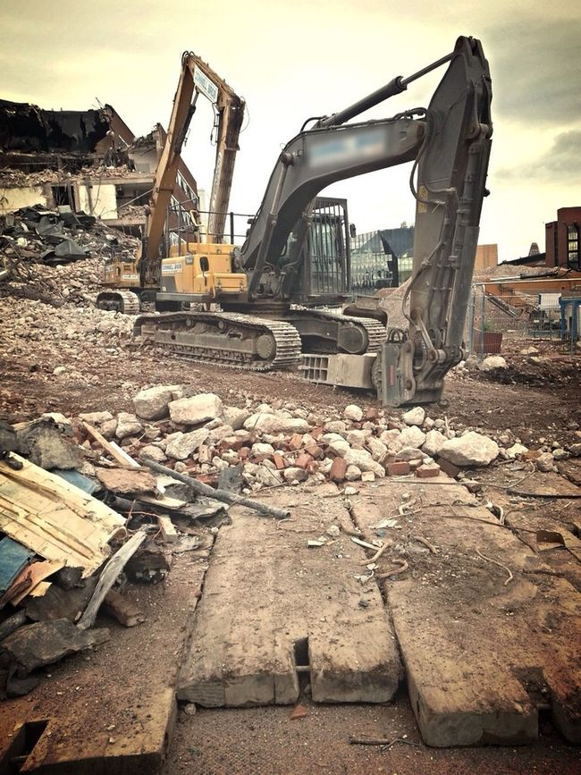 Demolished Crush Industrial Landscapes Digger