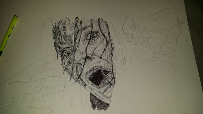 In progress... Blackandwhite Art Drawing Girl