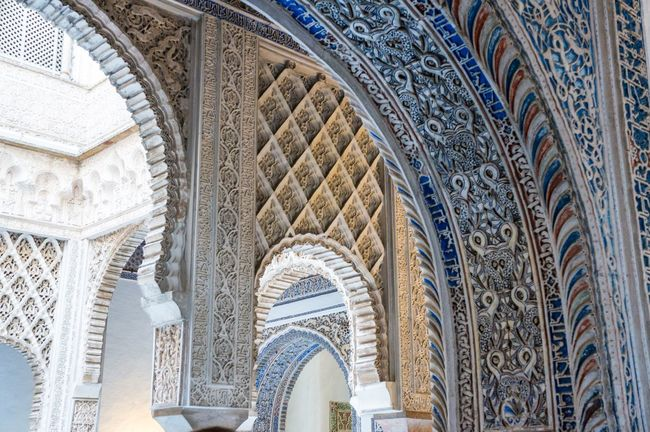 Multiple Layers Sevilla Seville España Mudéjar Arabic Architecture Alcazar Palace