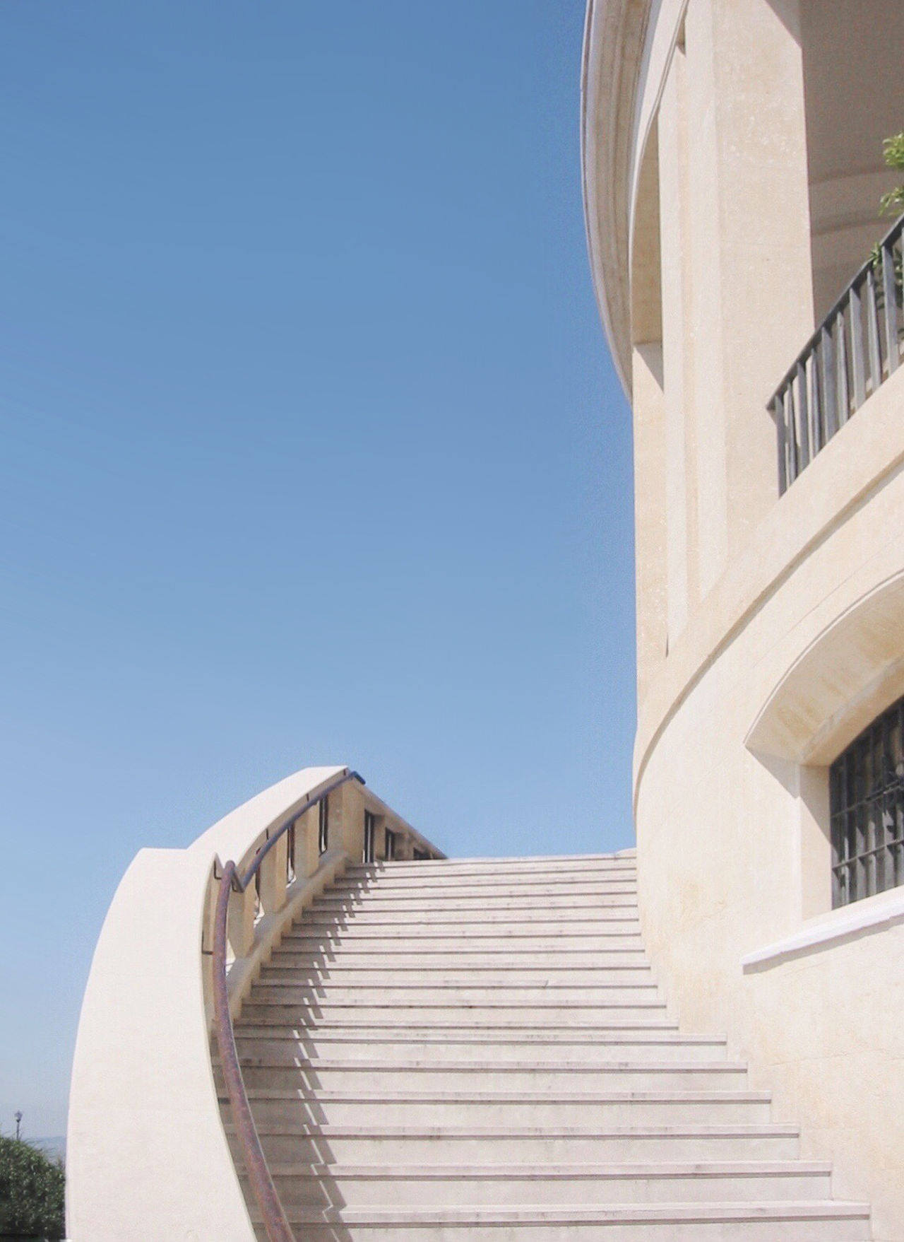Architecture Blue Blue Sky Building Exterior Built Structure Clear Sky Day Fancy Low Angle View No People Outdoors Palace Rich Sky Staircase Stairs Steps Steps And Staircases Sunlight Villa EyeEm Selects