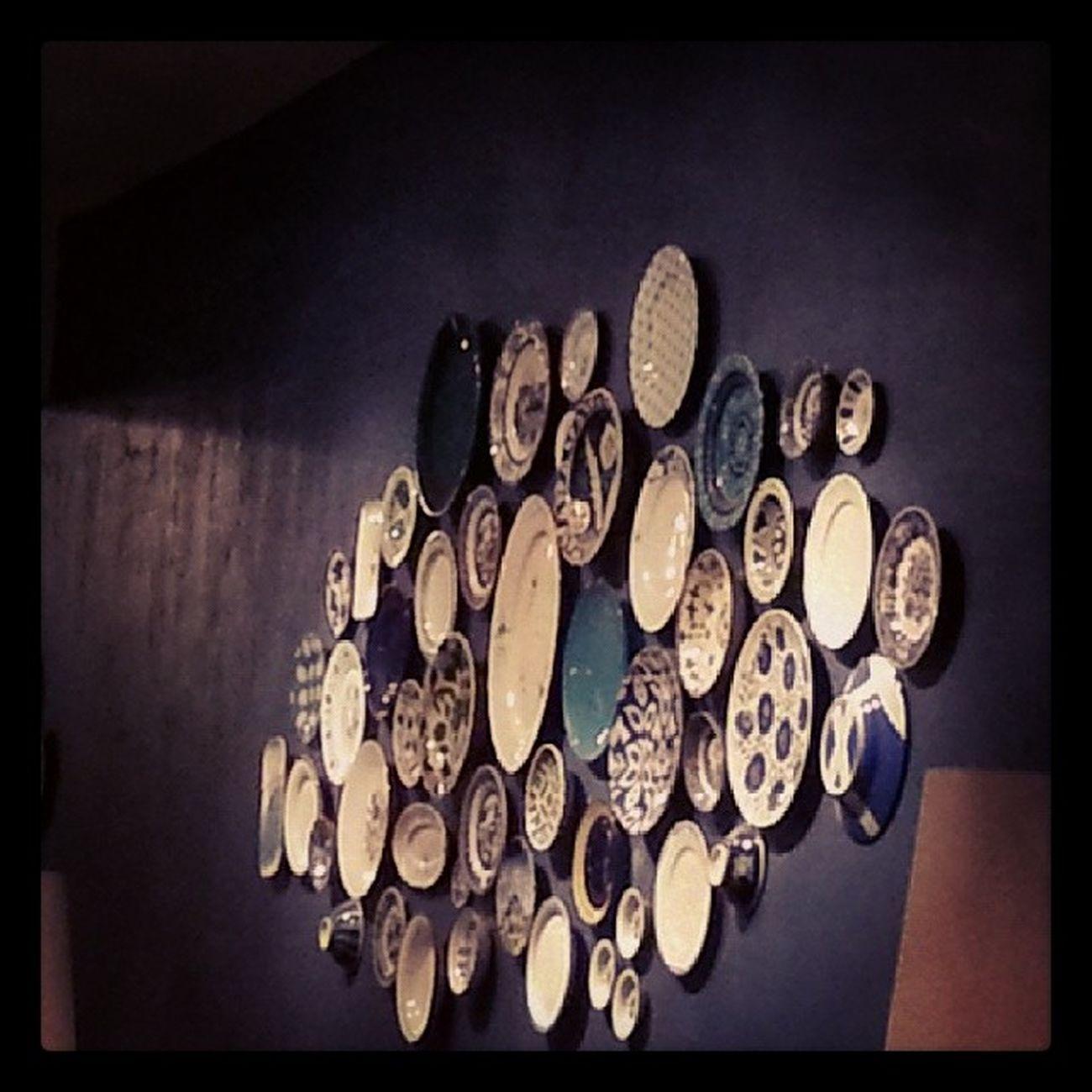 Humus ve mucvere sevgilerle☺Yummy☺😜 @bettydir Naif Dinner Instagramers Plate Ceramics Istanbul Blue