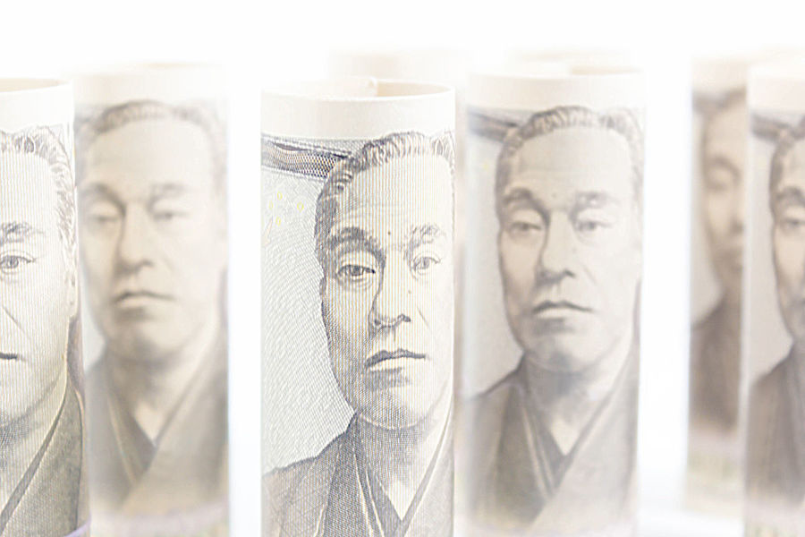 Roll Up Of Money Yen Banknote On Vintage Wooden Background, Business And Finance Concepts, Banknotes Stacked On Each Other In Different Positions Business Concepts Japan Prosperity Rich Salary Stack Bank Banknote Change Commercial Investment Marking Money Number Paper Pay Payment Personal Progress Quantity Resource  Spend Success Yen