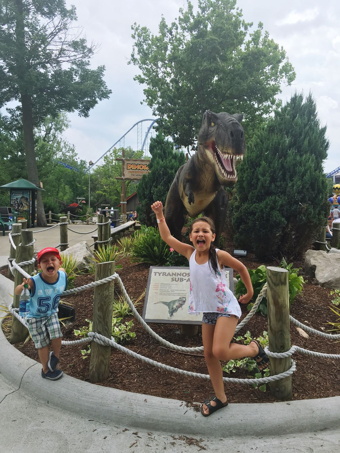 RUN FOR YOUR LIFE! DinosaurAlive Dinosaur Cedar Point Dinosaur Alive Love These Moments Taking Photos Family Vacation Love ♥ Being Crazy(: Memories Taking Photos Holidays ☀ Kids Grow Up So Fast Run For Your Life Watch Out