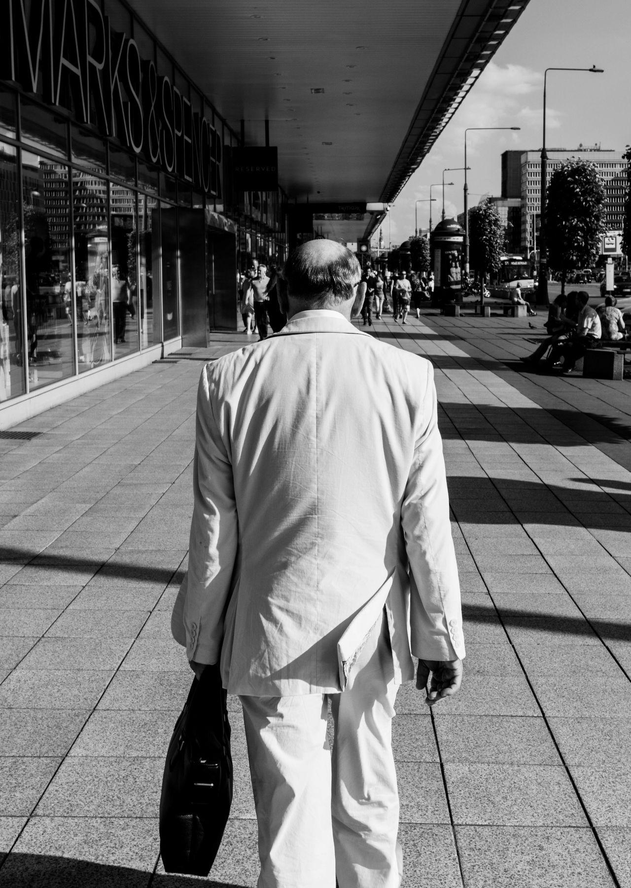 Beautiful stock photos of senior, rear view, street, city, incidental people