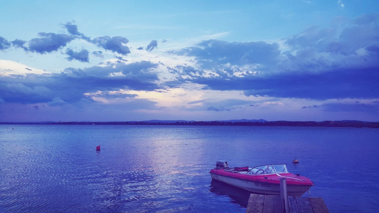 Lake near city :) First Eyeem Photo Blue Wave Lake Boat Nature Photography Nature Colour Of Life
