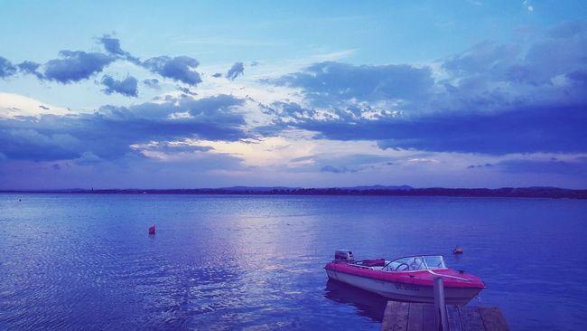 Lake near city :) First Eyeem Photo Blue Wave Lake Boat Nature Photography Nature Colour Of Life