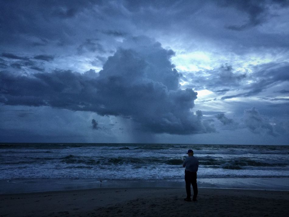 Morning before Hurricane Matthew Hurricane Weather Storm Clouds Melbourne Beach, FL Hurricane Matthew 2016 Horizon Over Water Cloud - Sky Coastline Oceanscape Sunrise And Clouds Cloudy Rain Clouds