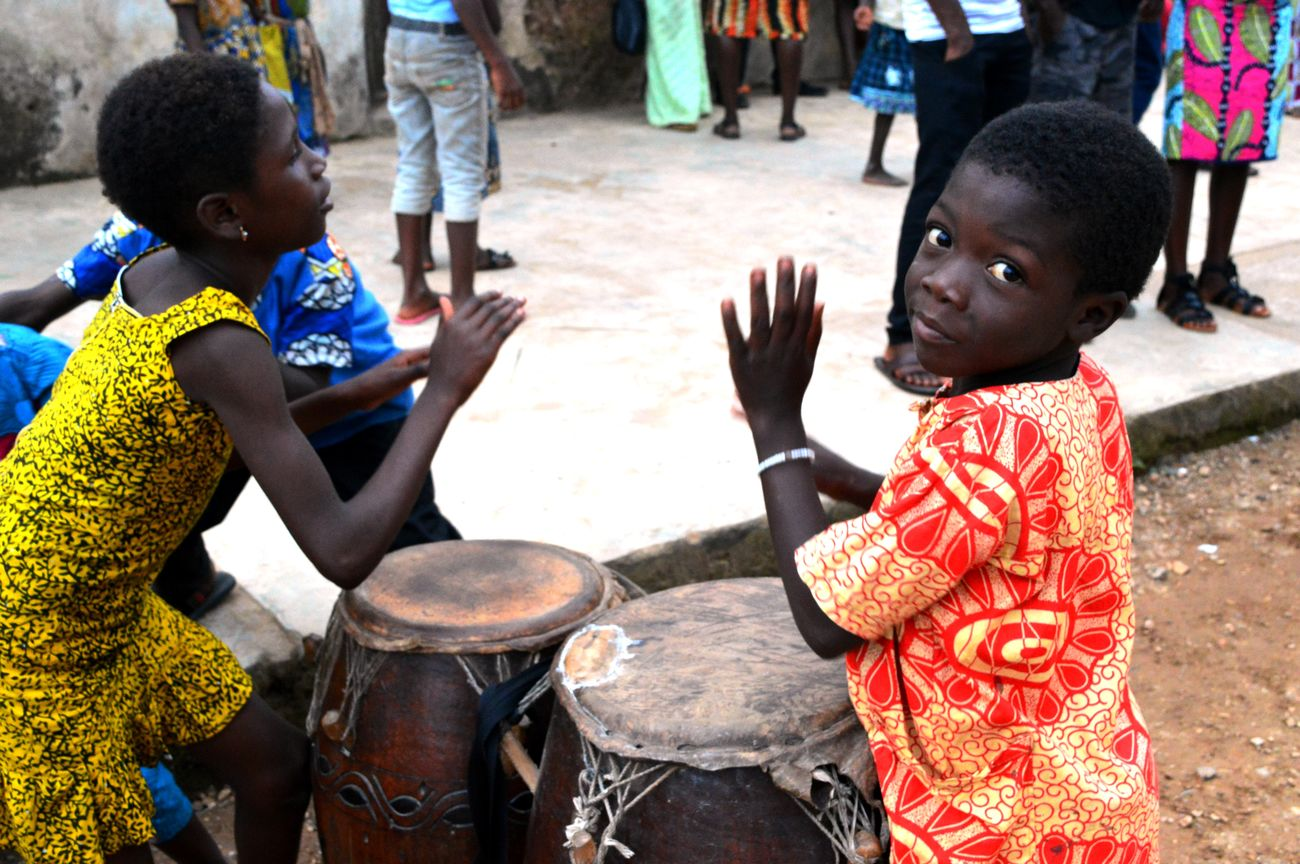 Africa African Child Cultures Djambe Music Togo