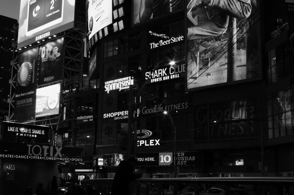 Young-Dundas Square Neon Lights Night Photography