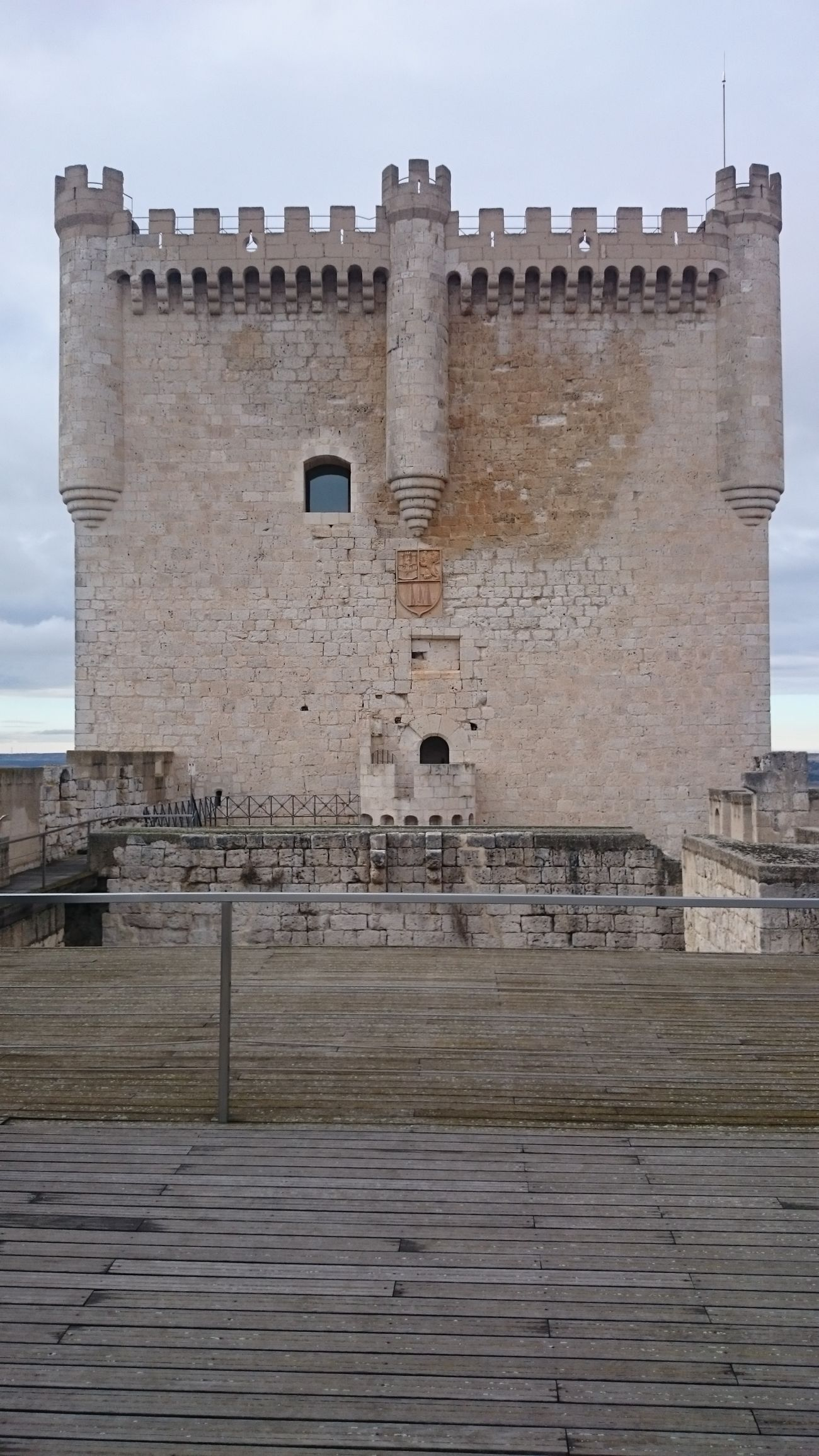 Una Vista de la Torre del Castillo De Peñafiel desde dentro