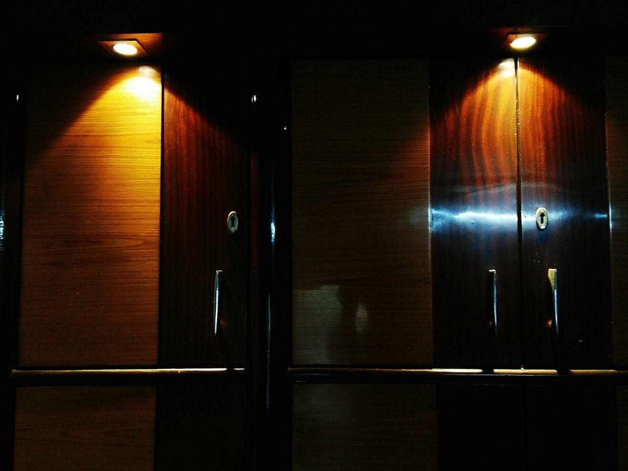 Door Elevator Illuminated Indoors  No People Ajar