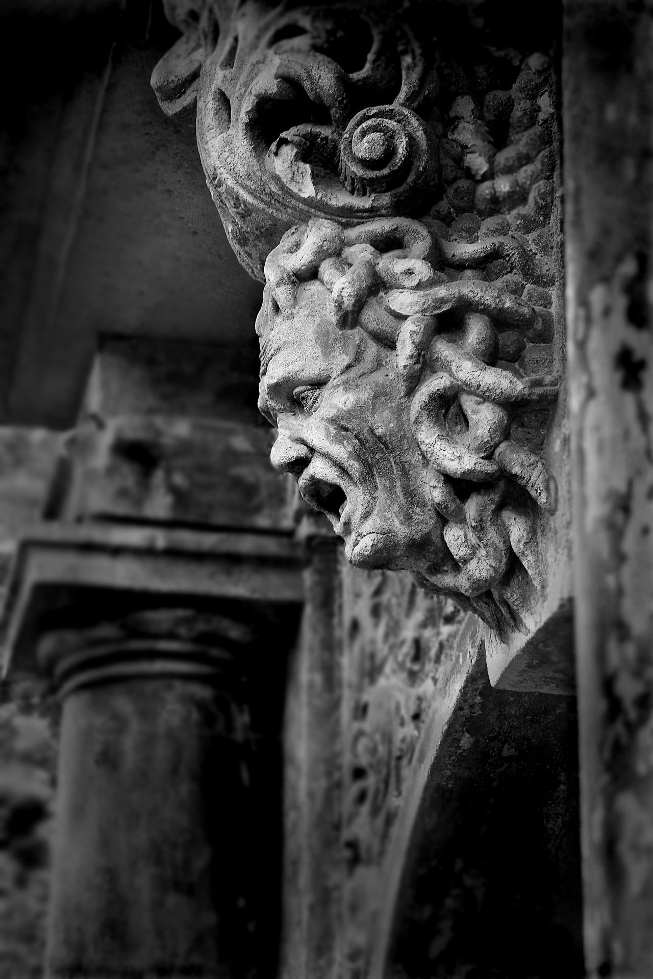 Adelheid Castle Close-up Day Face Gargoyle Geist Geisterstatue Germany Gohst Hainewalde Low Angle View Medusa Medusastone Mystic No People Outdoors Scarry Scarry Face Schloss Spuk Spukschloss Statue Stone Medusa