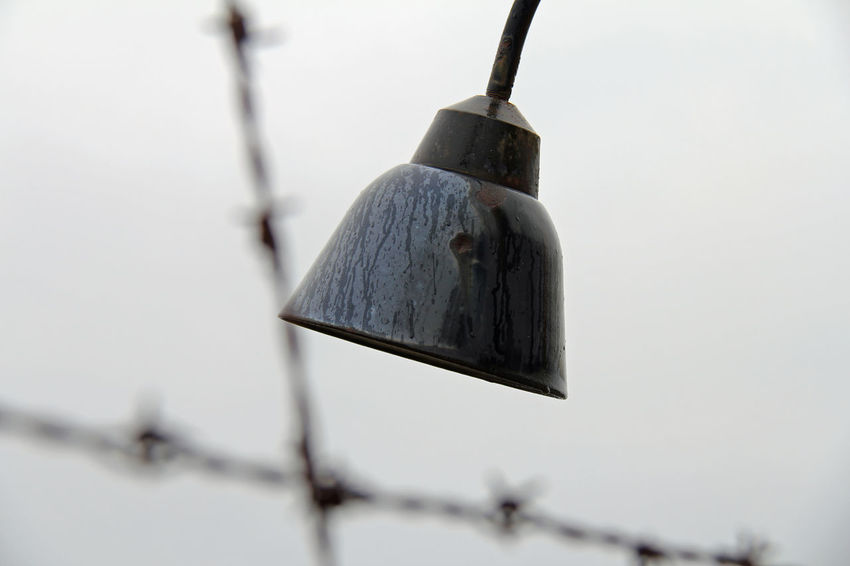 Close-up Cold Temperature Dachau Day DIY Focus On Foreground Hanging Konzentrationslager KonzentrationslagerDachau Kz Lamp Leiden Nazism No People Ns Outdoors Qual Stacheldraht Stacheldrahtzaun Tradition