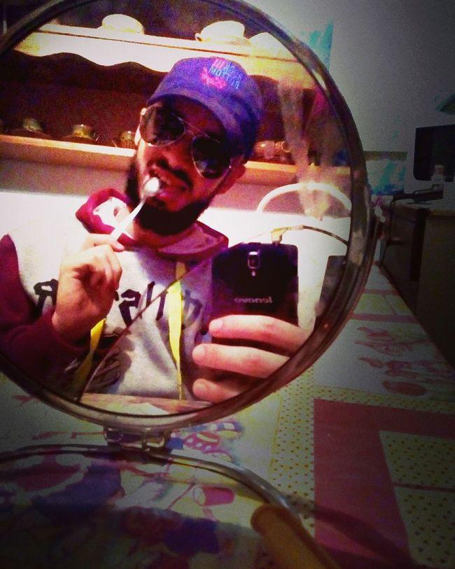 Smile :) Gas Station Guy Mirrorselfie Vintage Look