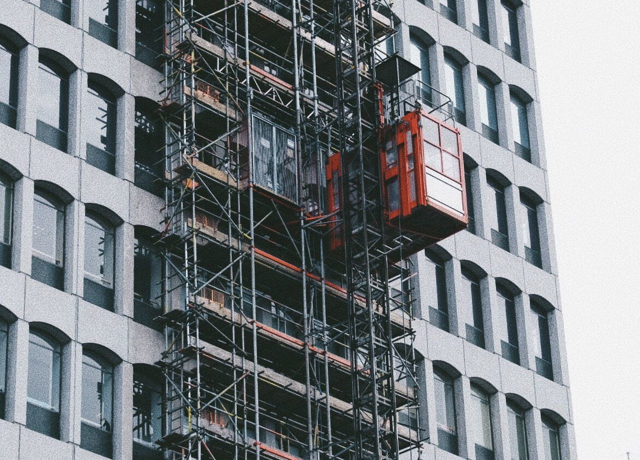 Architecture Window Building Exterior Built Structure Development Residential Building Construction Site Low Angle View Apartment Building - Activity Day Air Conditioner Backgrounds Construction Frame No People City Outdoors