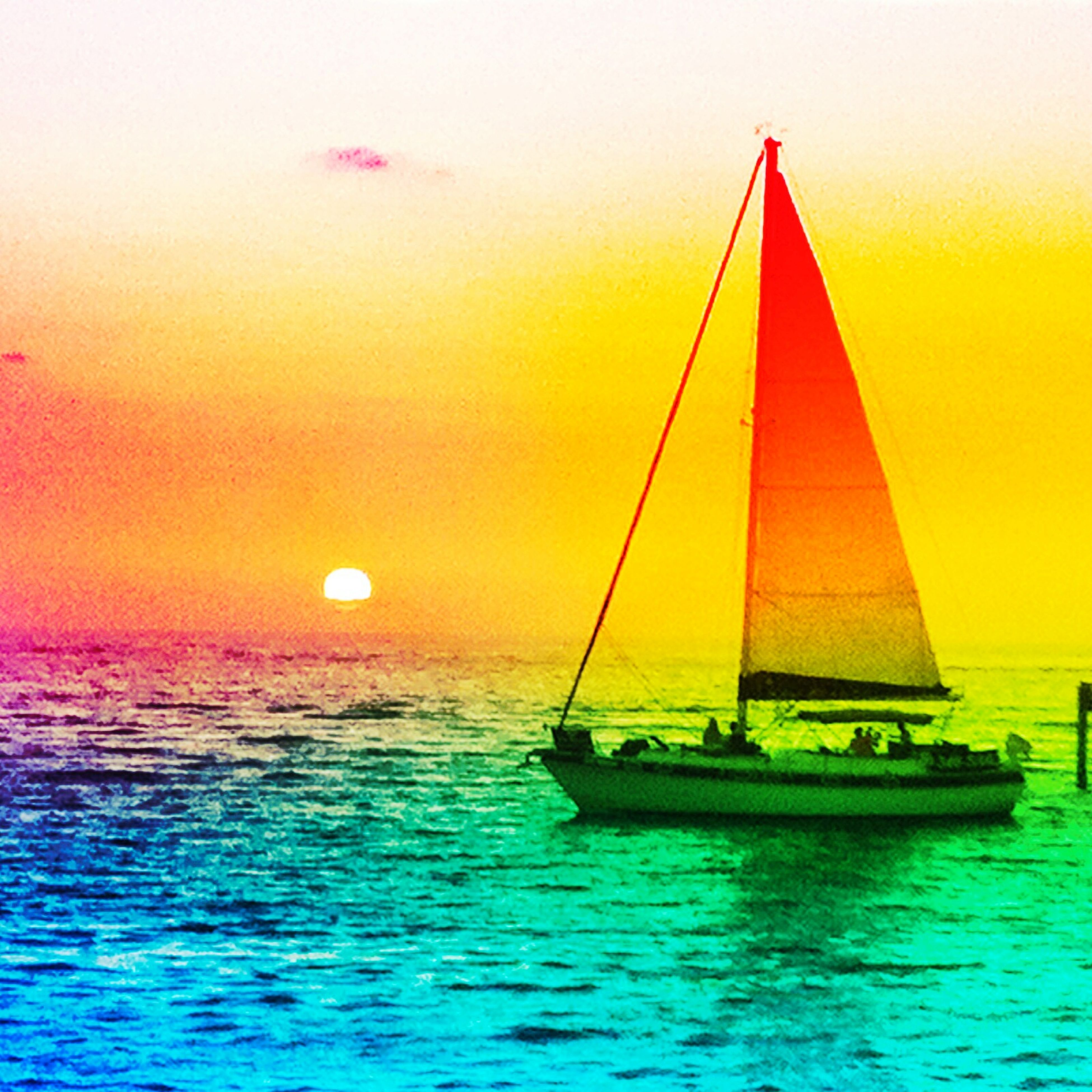 transportation, nautical vessel, sea, water, boat, mode of transport, waterfront, sunset, horizon over water, sailboat, sailing, scenics, beauty in nature, tranquility, tranquil scene, sky, rippled, orange color, nature, idyllic