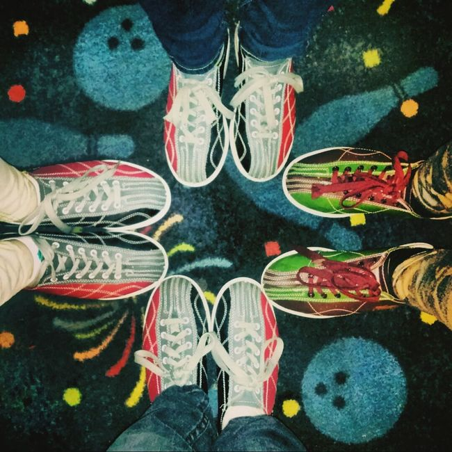 This is literally the most Cliched picture ever but I still like it. Bowling Shoes Bowling Shoes Bowling Alley Friends Fun