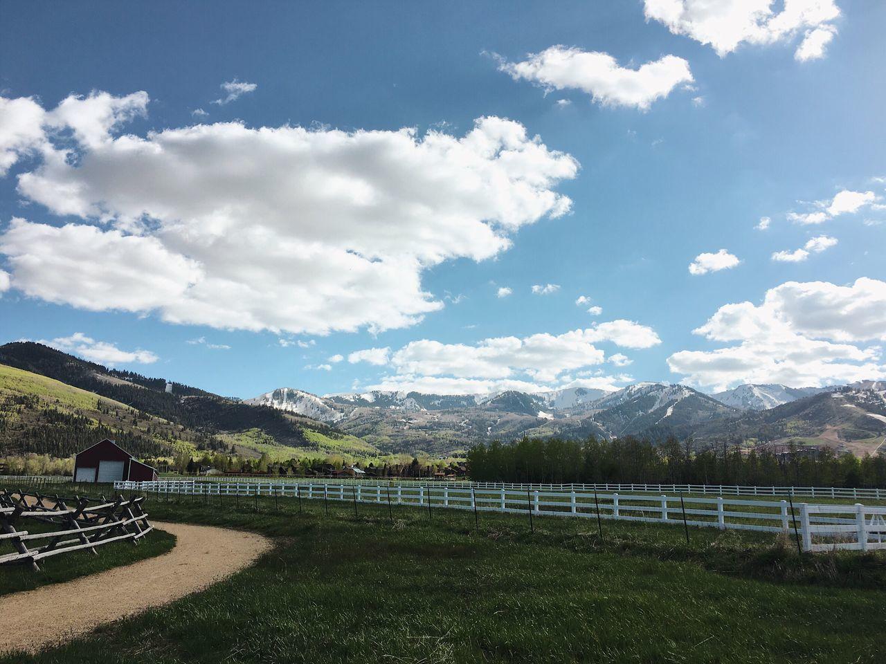 the wide shot. ski slopes in the distance. Park City, Utah