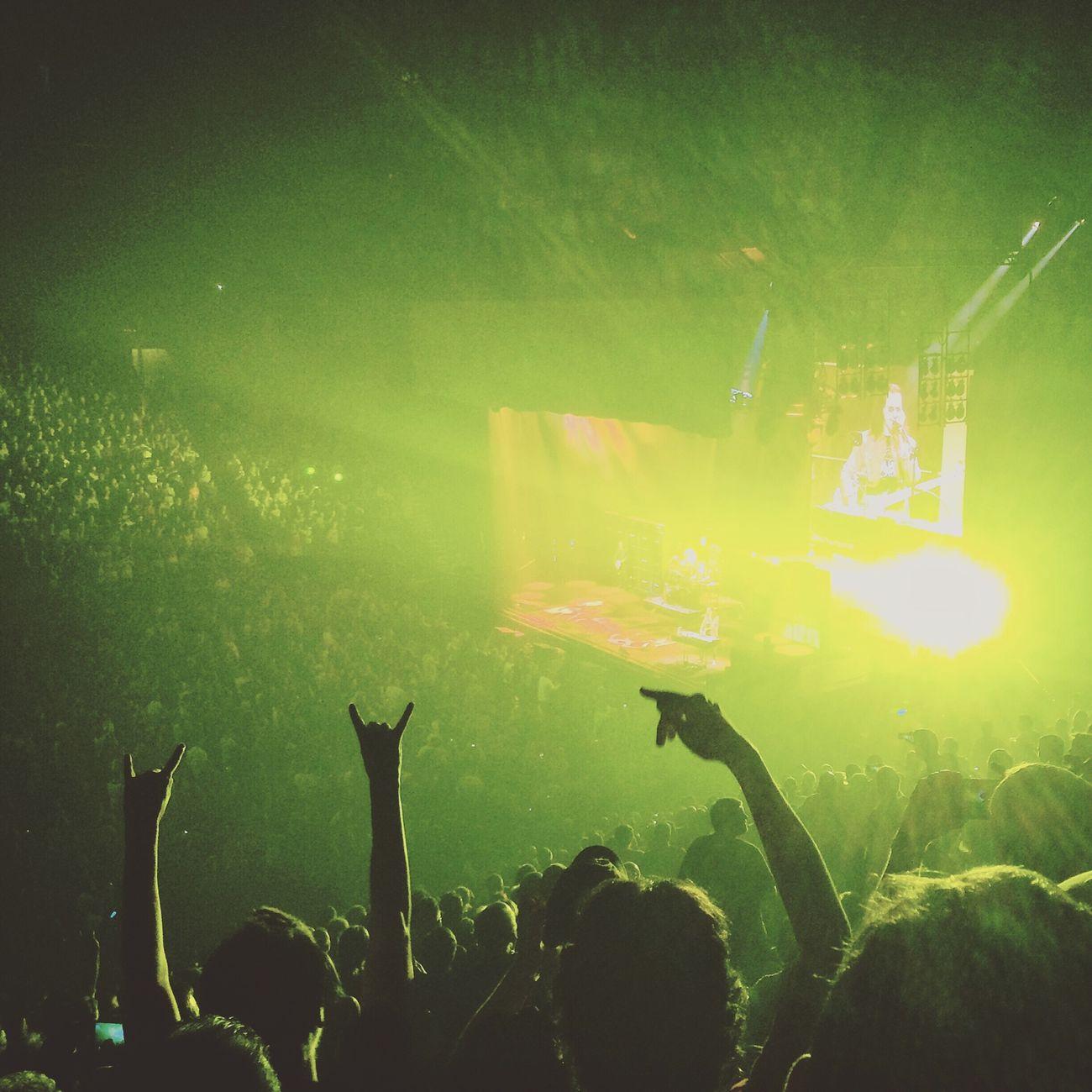 Concert Green Music Crowd