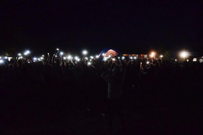 Illuminated Night Holi Party Color Festival