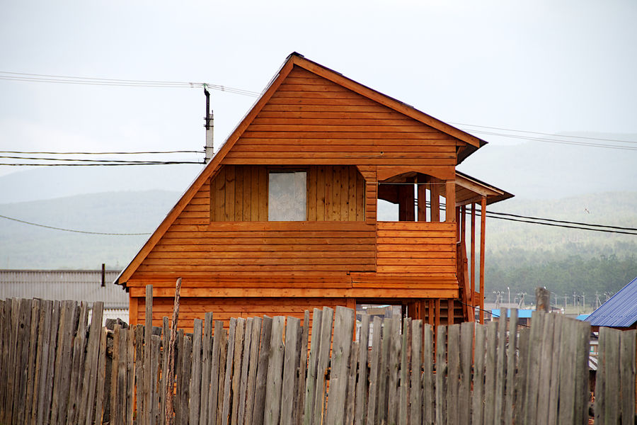 House in near baikal lake Architecture Baikal.Russia.Siberia.my Motherland Brown Day House Nature No People Outdoors Russia Wood Wood - Material Wooden
