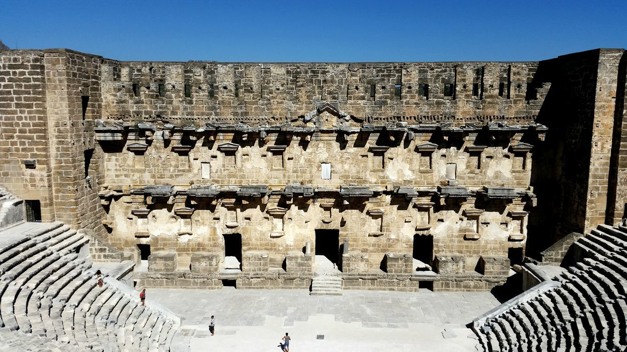 Aspendos/Antalya/Turkey Turkey Antalya Aspendos  Antique Journey Antiquetheatre Travel Quality Time Sky Theatre Likeforlike Symmetrical Stone Architecture Follow Taking Photos Enjoy Life Great Great Atmosphere Amazing Bigplace