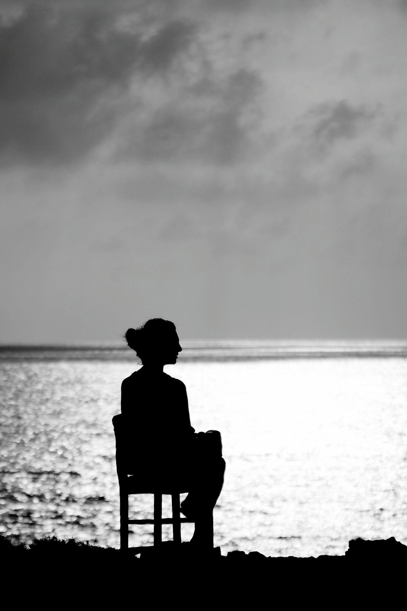 Kibris Cyprus Siluette Sky Black & White
