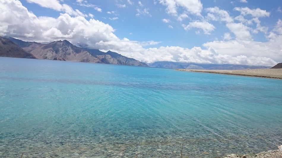 Beauty In Nature Scenics Nature Tranquil Scene Tranquility Water Sky Outdoors Day Idyllic Mountain Blue No People Cloud - Sky Landscape Travel Destinations Throwback Leh Ladakh..