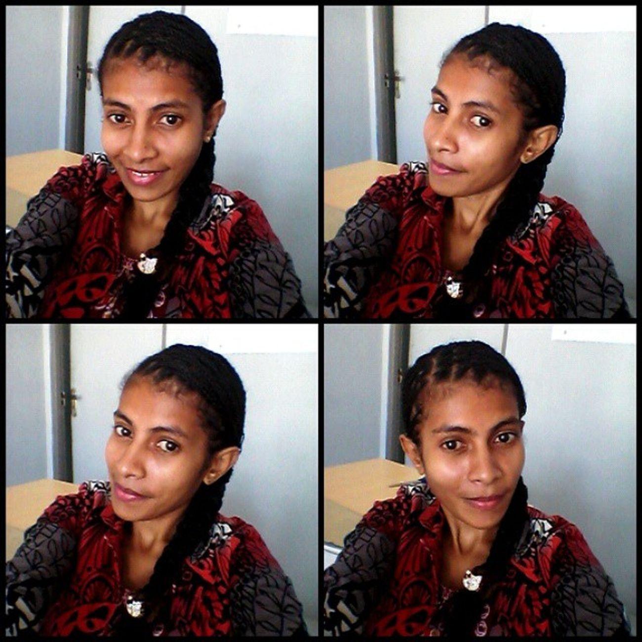 Selfie with rambut nyambung...Nyanyom Nyambungnyombong
