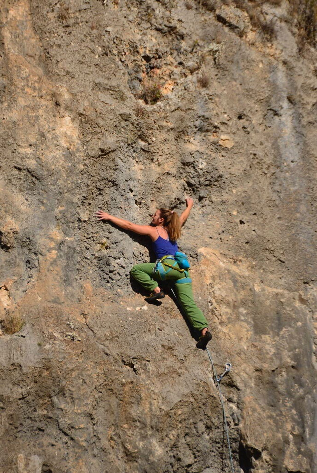 The Great Outdoors - 2017 EyeEm Awards Rock Climbing Climbing Adults Only RISK Full Length Adult Day Rock - Object One Person One Woman Only Adventure Only Women Rock Face Outdoors Young Adult People Sport Nature Extreme Sports Flexibility Geyikbayırı Antalya Turkey Tırmanış
