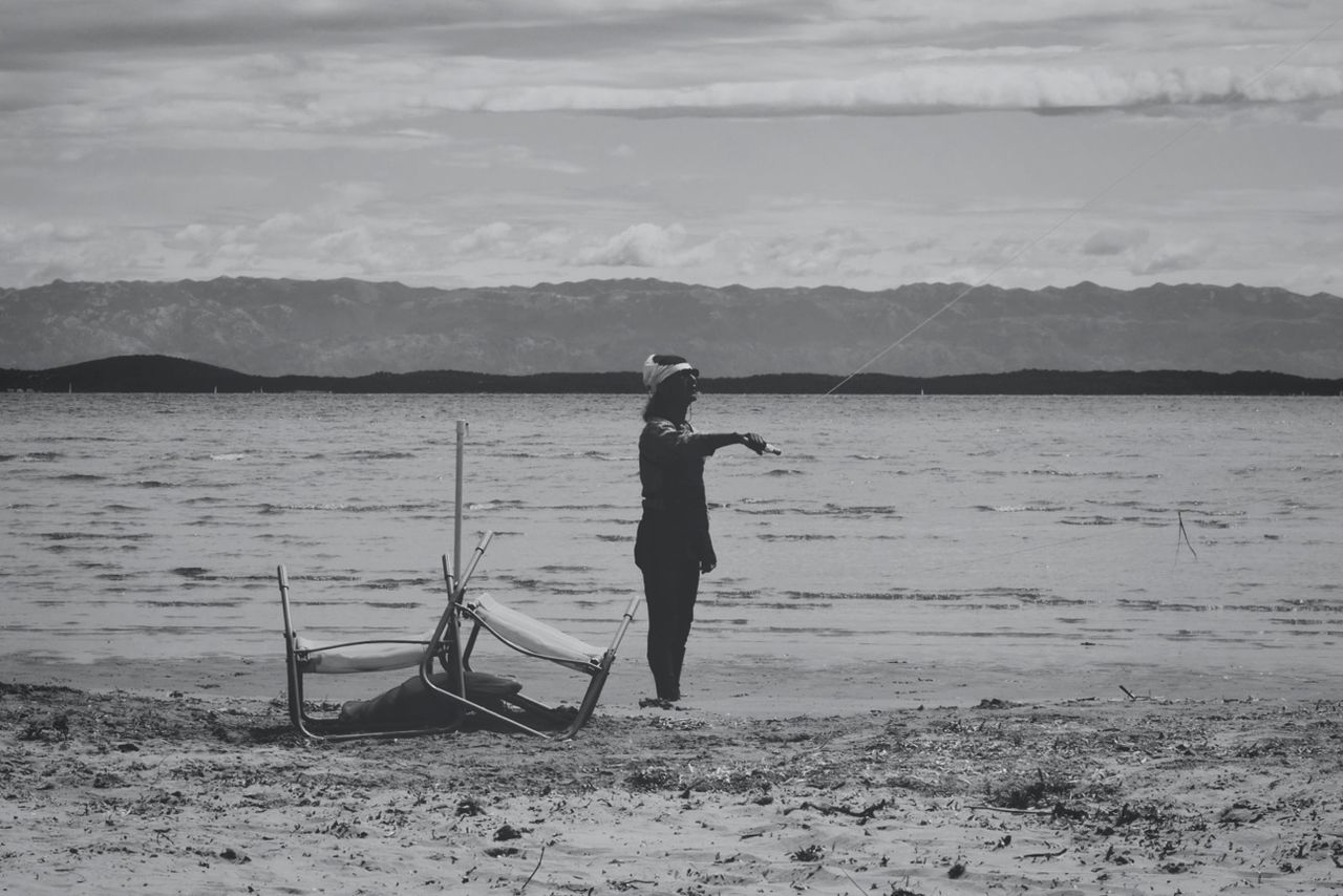 Blackandwhite Flying A Kite Bw_collection EyeEm Nature Lover