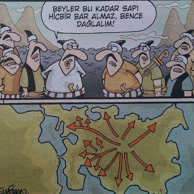 Türkler dünyaya nasıl yayıldı? Komik Karikatur Karikatur Mizah eglence eglenceli komedi penguen girgir uykusuz caps istanbul fun funny turk Türk
