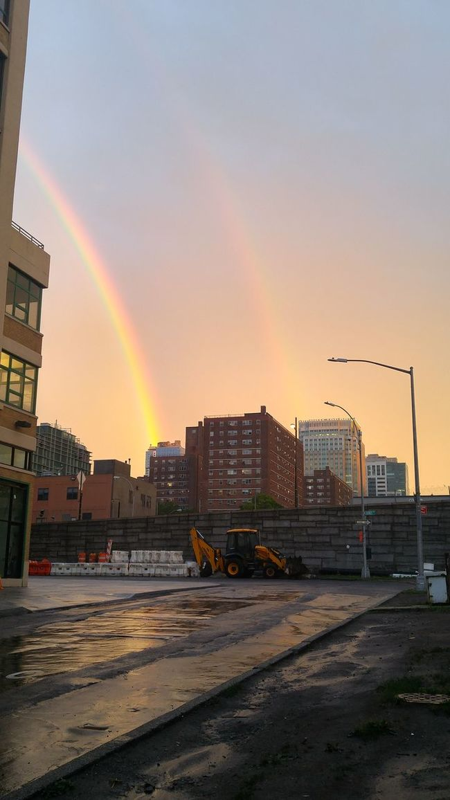Double Rainbow Nofilter Hanging Out Taking Photos Check This Out Smartphonephotography Sunset NYC Photography Brooklyn Downtown Brooklyn Rainbow