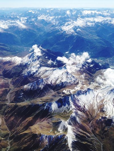 Flew above the Alps on my way back home Traveling Alps Hello World Alpes